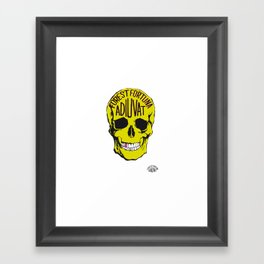 Fortune Favours The Brave. Framed Art Print