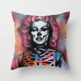 Madness is Genius Throw Pillow