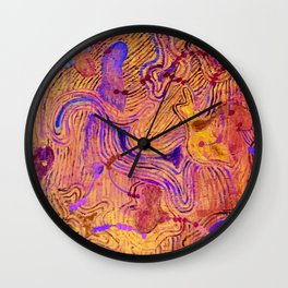 amoeba's sounds - proximity Wall Clock