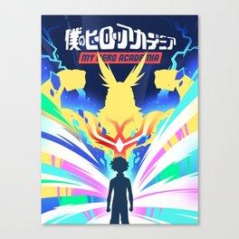 My Hero Academia Poster Design (僕のヒーローアカデミア) Canvas Print