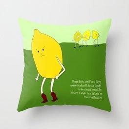 seedless lemons can be cruel as well. Throw Pillow