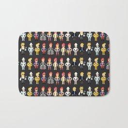 Bowie pixel characters Bath Mat