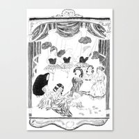 theatre Canvas Prints featuring theatre by mariana, a miserável(the miserable one)