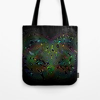 trippy Tote Bags featuring trippy by vidikay