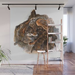Wolf Mom Wall Mural