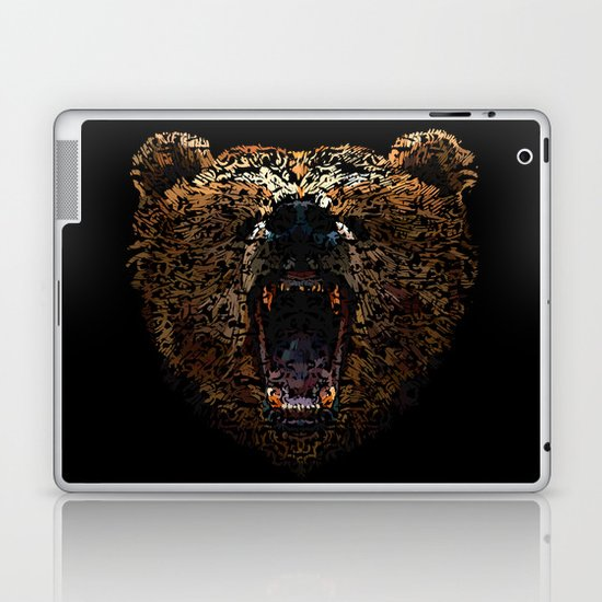 Floral Bear Laptop & iPad Skin