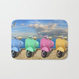 Scooter in bright colors Bath Mat