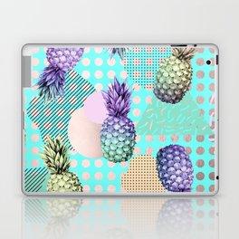 Pineapple Summer Rainbow Rose Gold Laptop & iPad Skin