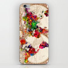 Antique and POP Art Map iPhone Skin