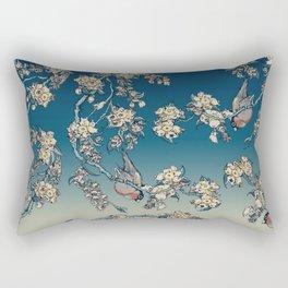 Bullfinch and French Bulldog Cherry Rectangular Pillow