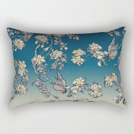Bullfinch and French Bulldog Cherry Rectangular Pillow
