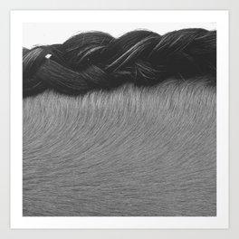 Braided Mane Art Print