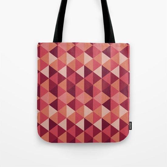 Red Mosaic  Tote Bag