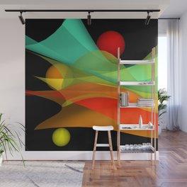 bicubic waves -4- Wall Mural