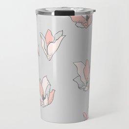 Modern Blossoms Abstract Pattern Travel Mug
