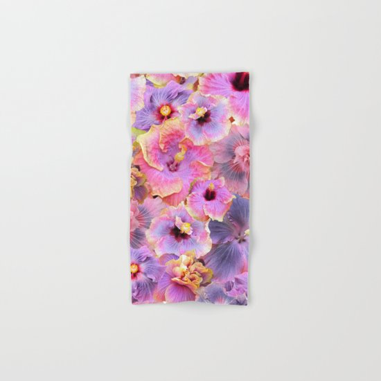 Tropical hibiscus patterns Hand & Bath Towel