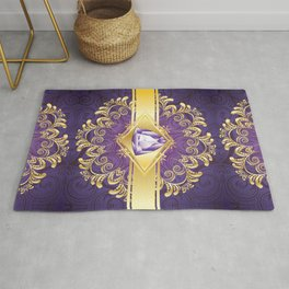 Decorative Background with Amethyst Rug