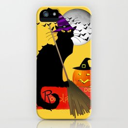 Le Chat Noir - Halloween Witch iPhone Case
