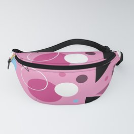 Geometric Pink Fanny Pack