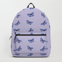 Watercolor Butterfly Pattern with violet background Backpack