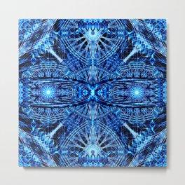 Crystal Dimension Mandala Metal Print