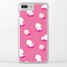 Cat Pink Clear iPhone Case