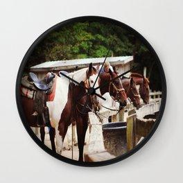 Ranch Horses Wall Clock