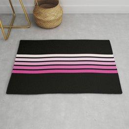 Pink Abstract Minimal Retro Stripes 70s Style - Nobuyasu Rug