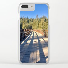 Sunlight Shadows and Patterns Clear iPhone Case