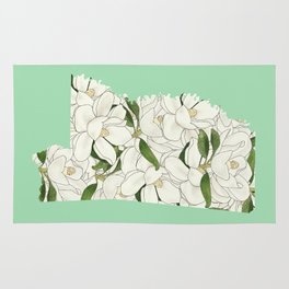 Mississippi in Flowers Rug