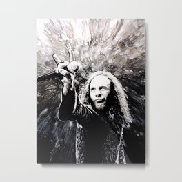 Ronnie James Dio Portrait Art Metal Print