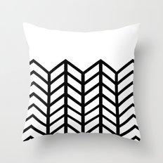 BLACK & WHITE LACE CHEVRON Throw Pillow