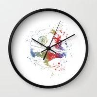 death star Wall Clocks featuring Death Star Star . Wars by Carma Zoe