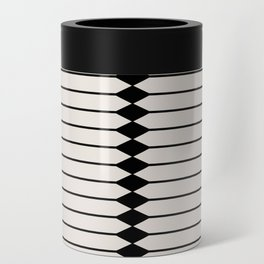 Minimal Geometric Pattern - Black and White Can Cooler