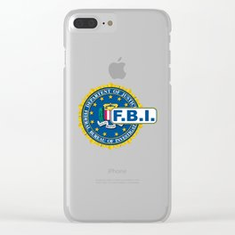 FBI Seal Mockup Clear iPhone Case