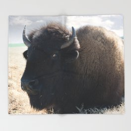 The Mighty Bison Throw Blanket