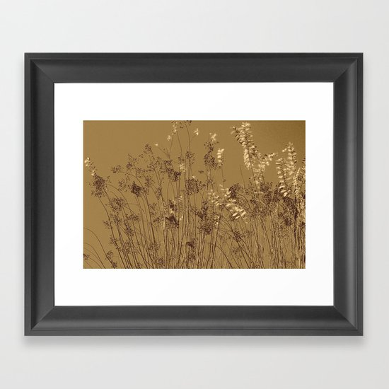 Thin Branches Sepia Framed Art Print
