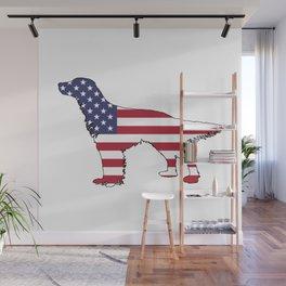 "English Setter ""American Flag"" Wall Mural"