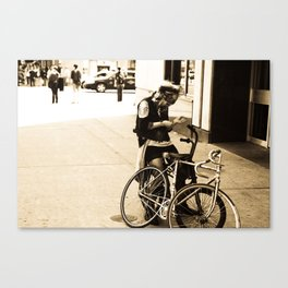 Bike Girl Canvas Print