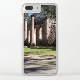Old Sheldon church Clear iPhone Case