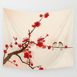Oriental plum blossom in spring 007 Wall Tapestry