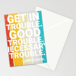 John Lewis Enter Excellent Necessary Difficulty Social Justice Tee Stationery Cards