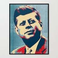 jfk Canvas Prints featuring JFK by Taylor Burleson