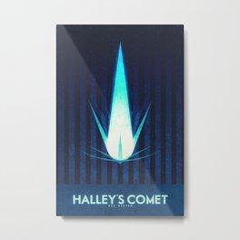 Sol System - Halley's Comet Metal Print