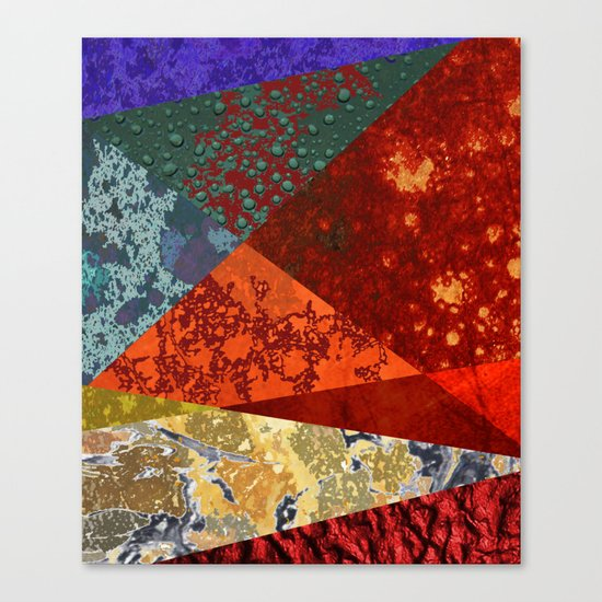 Abstract #300 Oxidation Canvas Print