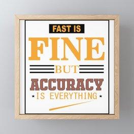 Fast Framed Mini Art Print