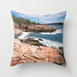 Acadia National Park - Thunder Hole Throw Pillow