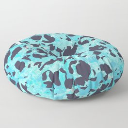 Camouflage #5 - Blue Floor Pillow