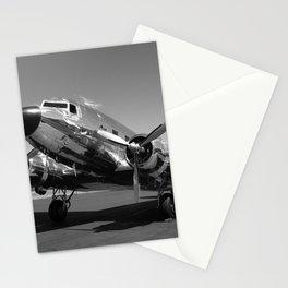 Douglas DC-3 Dakota Chrome Art Deco Airplane black and white photograph / art photography by Brian Burger Stationery Cards