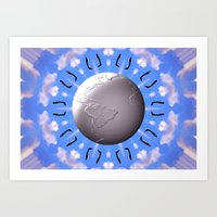 airplanes Art Prints featuring Crazy Airplanes by Art-Motiva